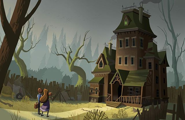 Count Olaf's house  #art #background #illustration #visualdevelopment #artist #artistsoninstagram
