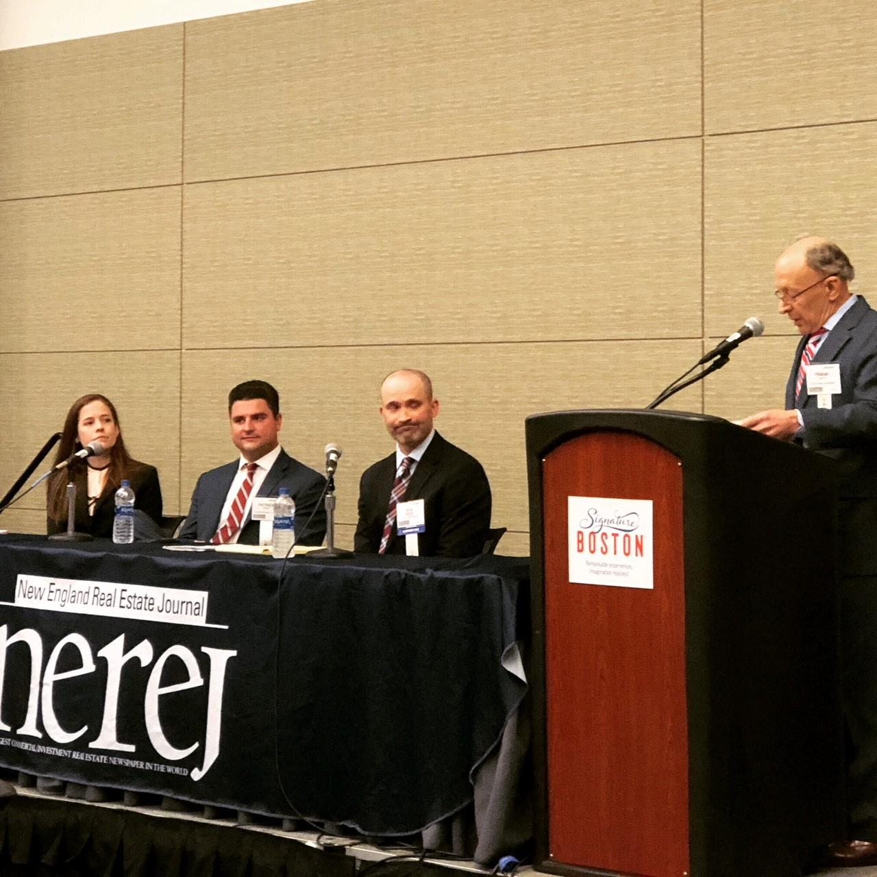 Jon Michalek,Flynn Law Group, Alison Kinchla from Bernkopf Goodman, and Patrick Brady of Cornerstone Realty Capital