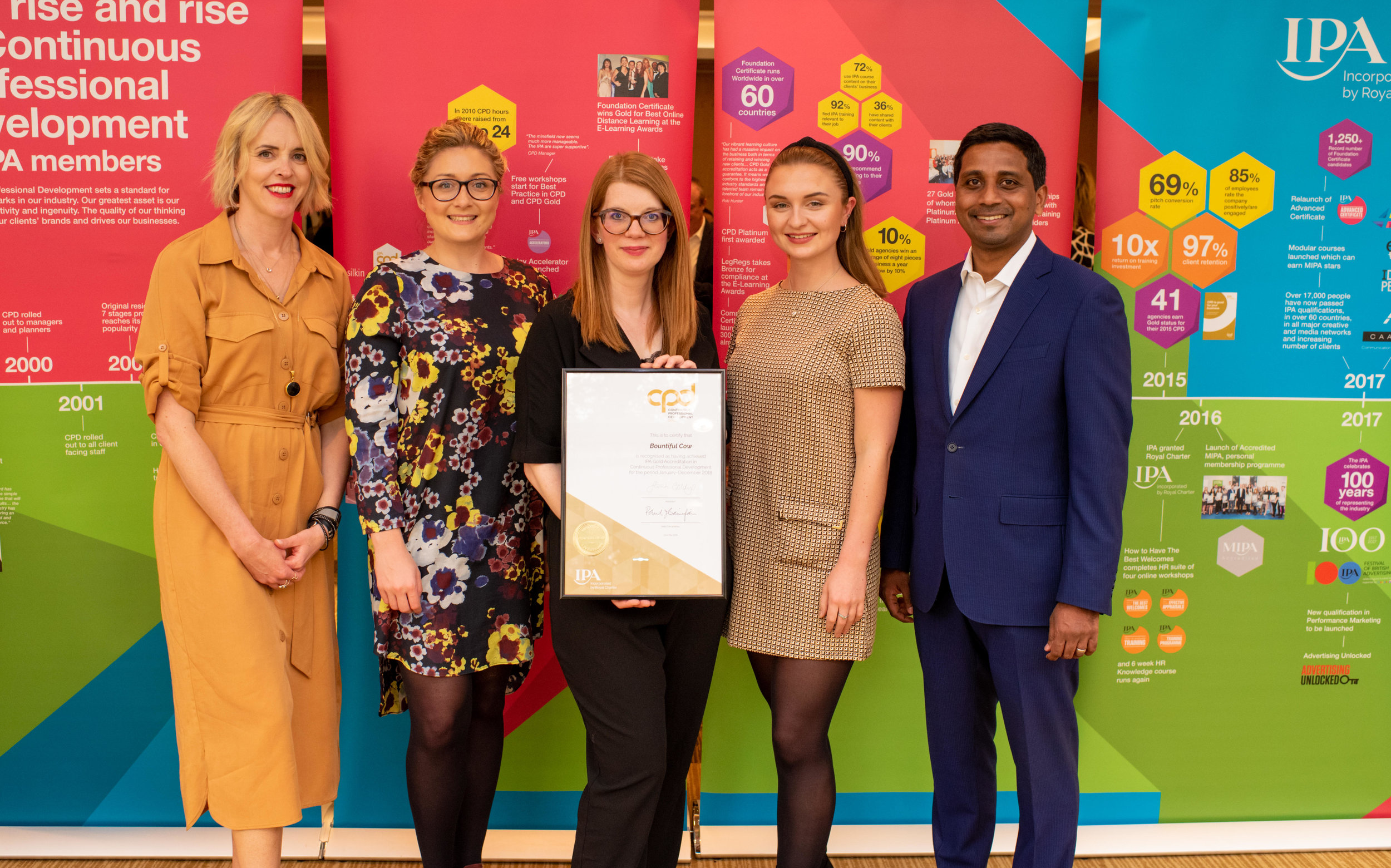 - 'We are extremely proud to not only be the fastest agency to achieve IPA accreditation but to also be the fastest agency to then achieve CPD Gold Accreditation'