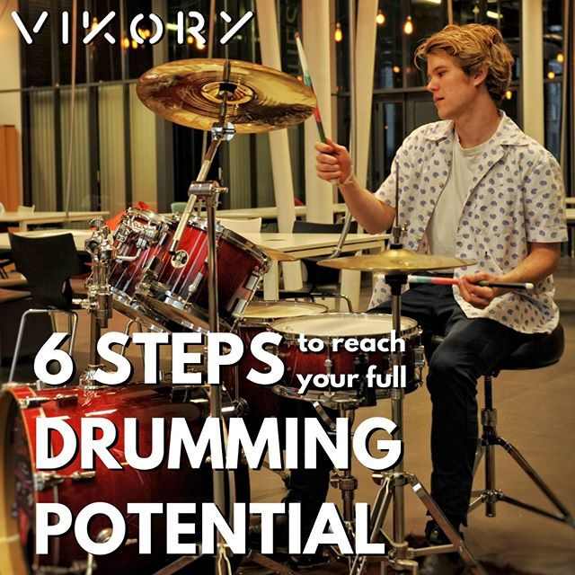 """Happy Birthday Vikory !✌️🔥🥁🎉 It's been one year that we successfully ended our Kickstarter campaign, making this whole project possible thanks to you ! And to celebrate it we just released a new product in our shop !  At Vikory we have spent a lot of time wondering how we could bring more value to you. It was always very important for us to build something bigger and stronger than just another drumsticks brand. And this is why we have just released this. It's called : """"6 Steps to Reach Your Full Drumming Potential"""". This is our first online video course on how to optimize your progression as a drummer. The aim of this course isn't to teach you how to play the drums (there is plenty of good content out here for that). This is a method that you can apply to your drumming routine, whatever is your level, to ensure your progression as a drummer.  Since we wanted to make it affordable for everyone, we set the original price at €35 (around $39). But since this is KINDA our birthday, we are giving it up for €25 (about $28) for the first few drummers who will sign up. If you want to check it out with more details, just click on the picture, or check out our online shop through our link in bio.😉  And remember : #vforvikory"""