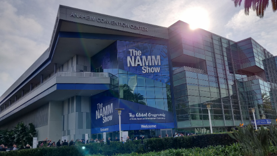 The NAMM Show entrance at the Anaheim Convention Center