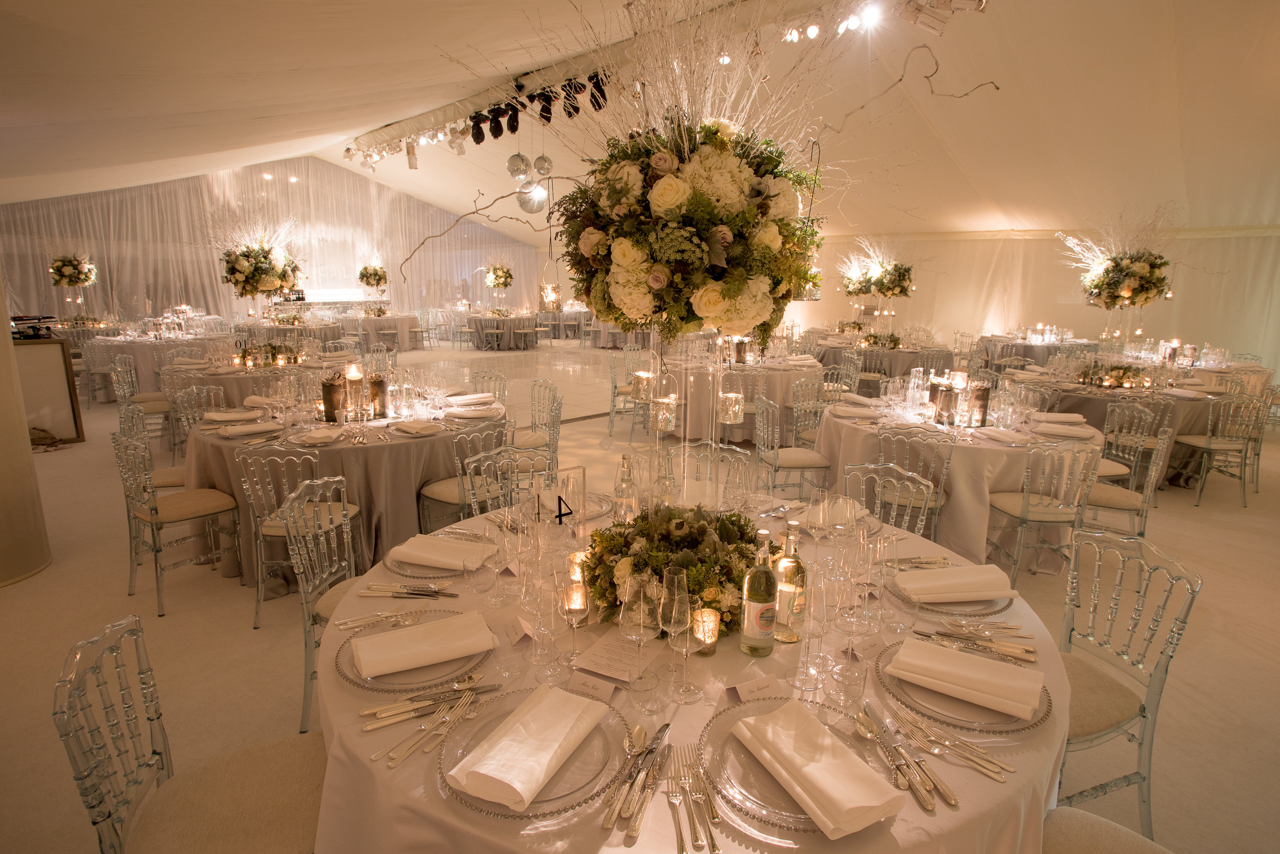 Marquee hire for weddings and parties, south of England