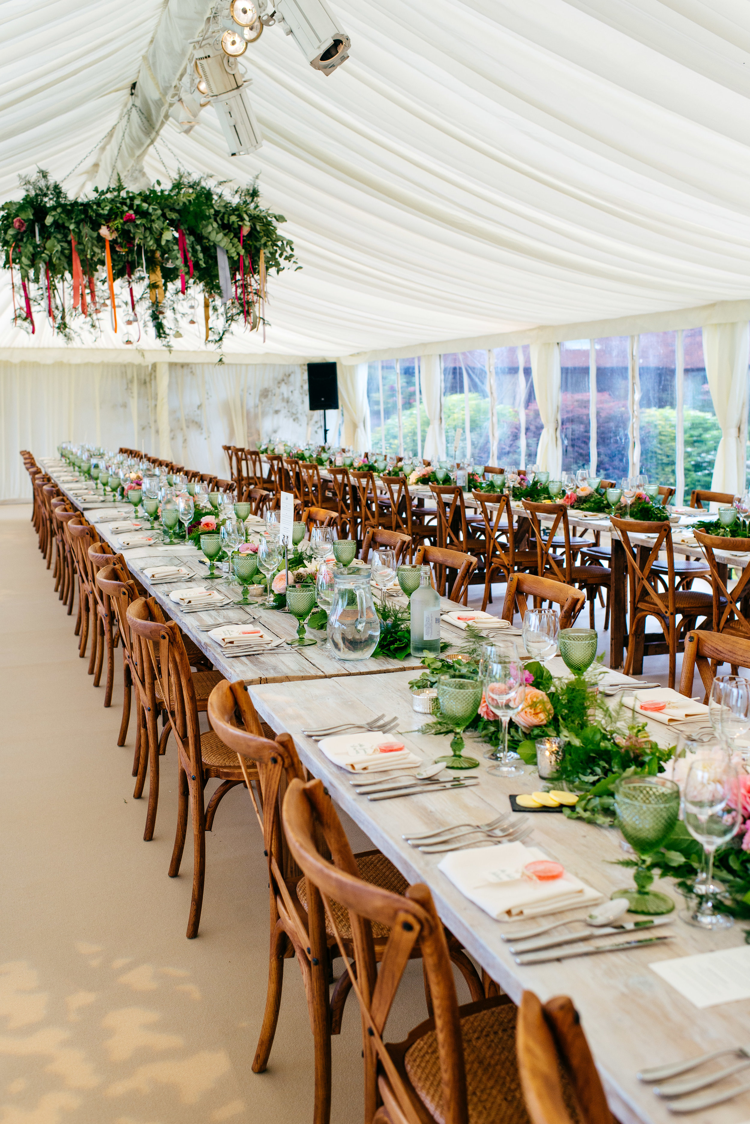 Wedding marquee hire.