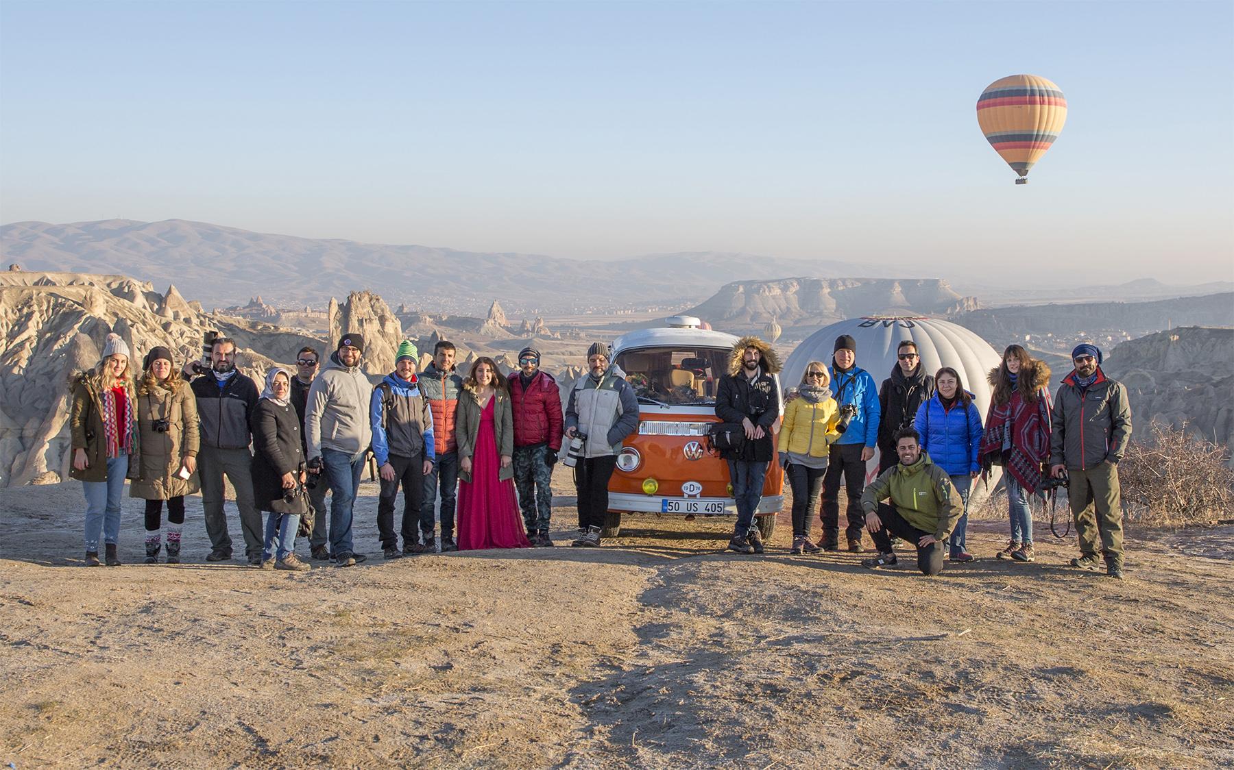 2017'nin Aralık Ayında yaptığımız Kapadokya, Kayseri ve Tuz Gölü fotoğraf gezisinden bir hatıra fotoğrafı.