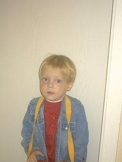 Lukas erster Kita Tag im Oktober 2004