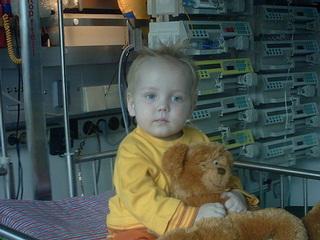 Lukas zur Behandlung im Uniklinikum Aachen