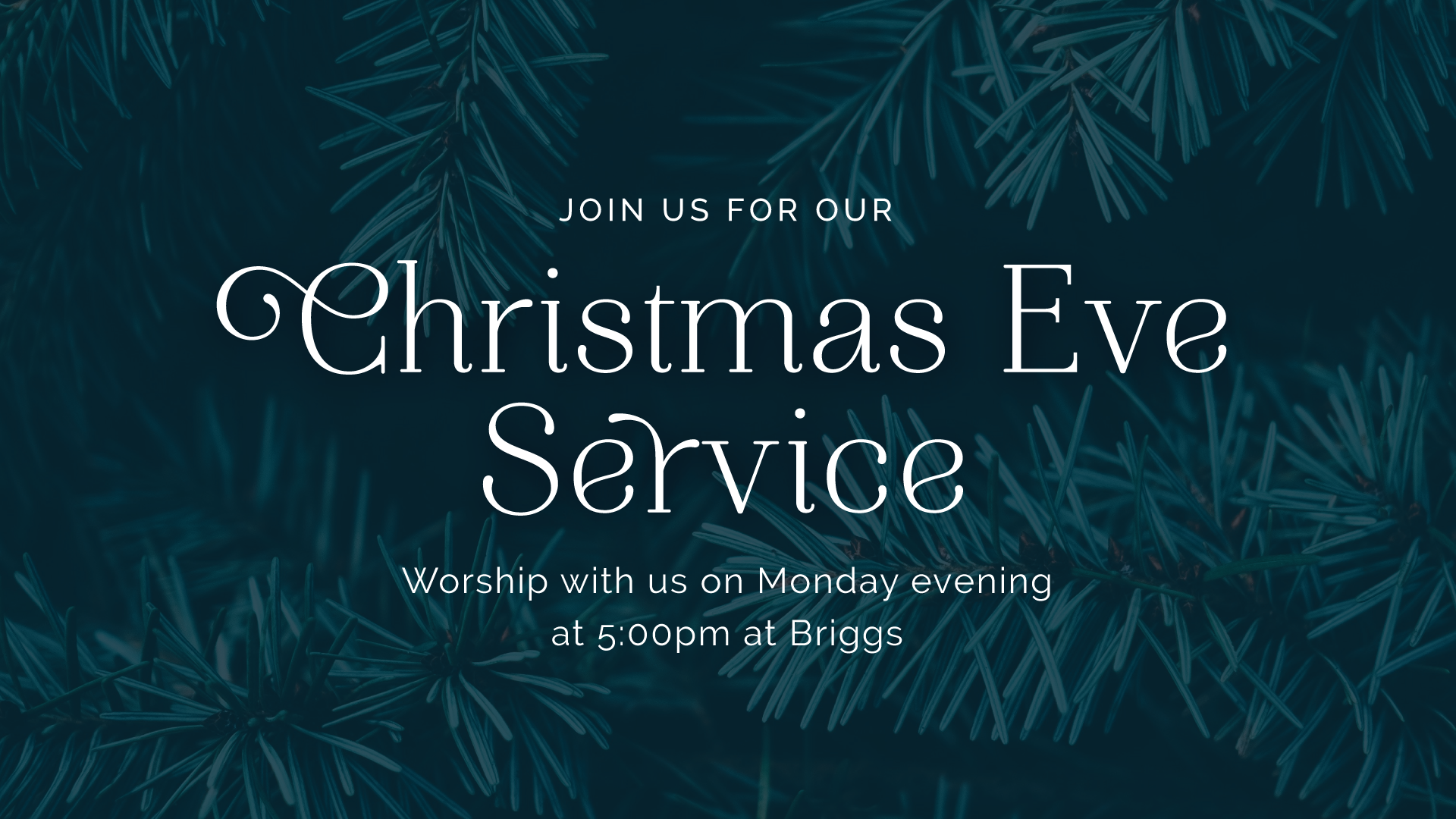 Christmas Eve Service - Good Shepherd Presbyterian Church PCA - Florence, SC