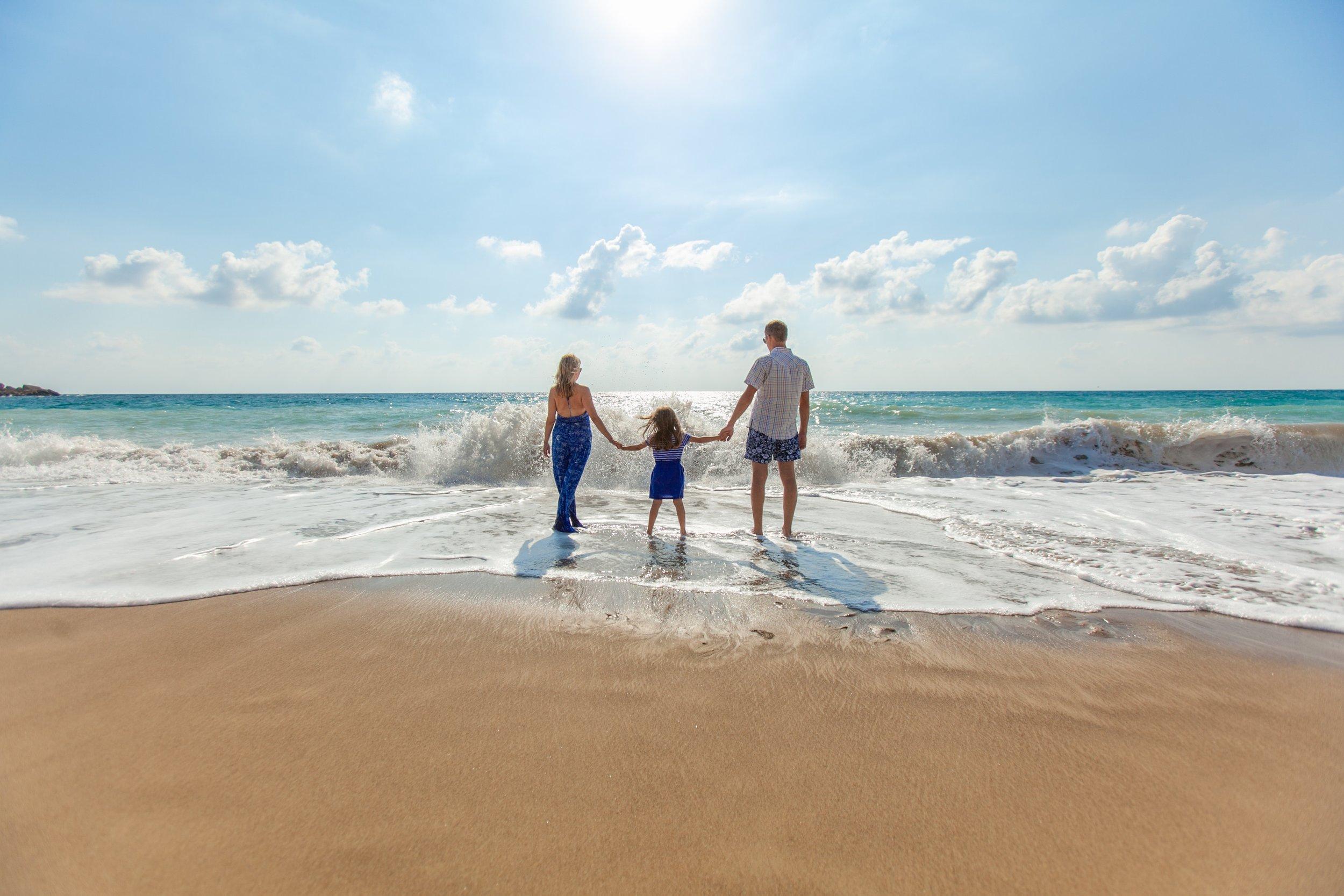 En hyggelig familietur til de spanske strande.