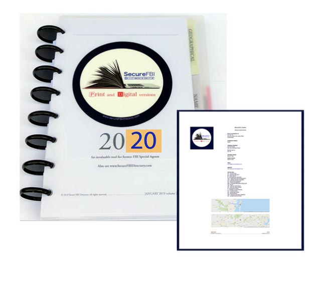 Directory Cover and sample Digital version Name page