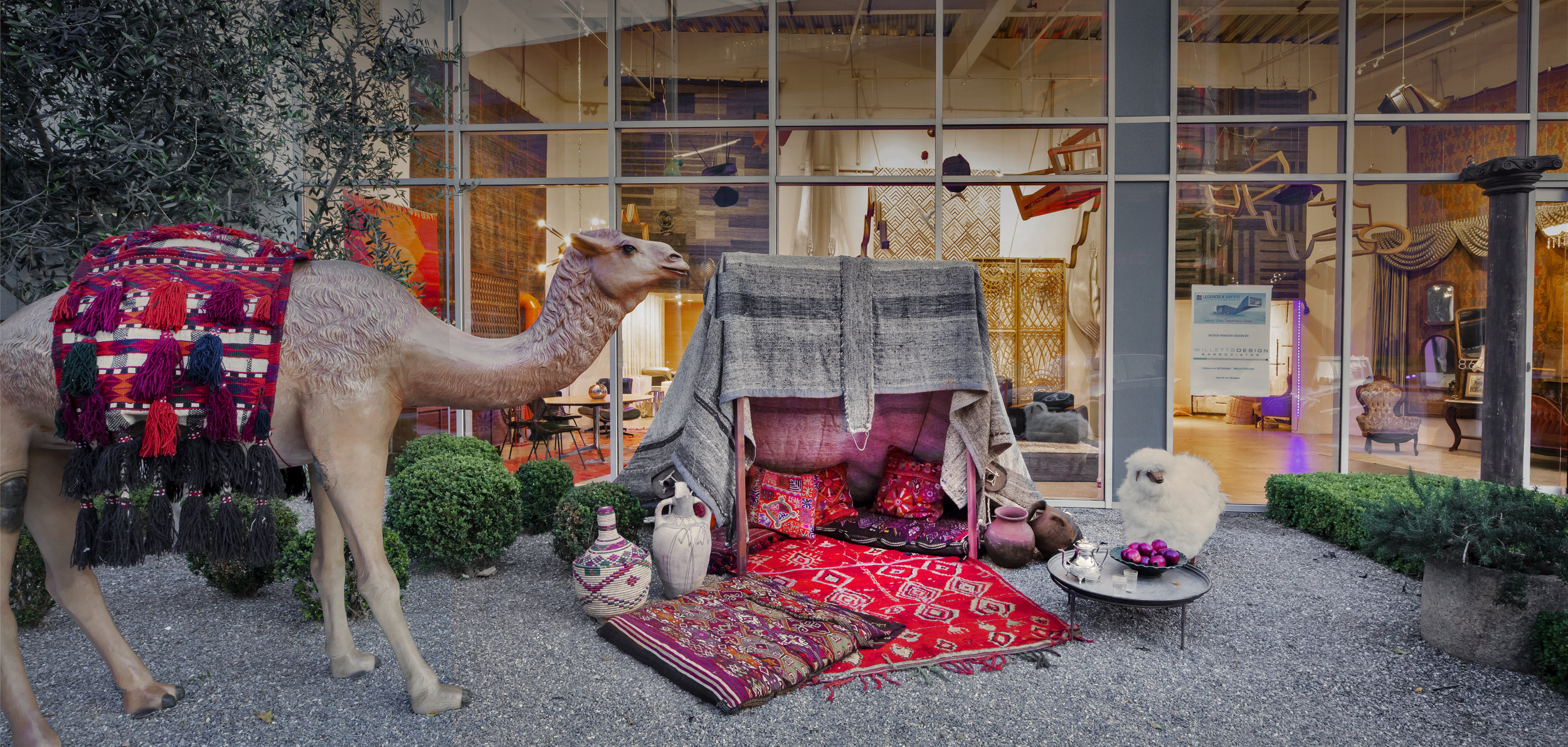 Dorothy's storefront vignette for  LCDQ's LEGENDS  event, is an interpretation of design's transition over time. Displayed at contemporary custom rug studio,  Woven .