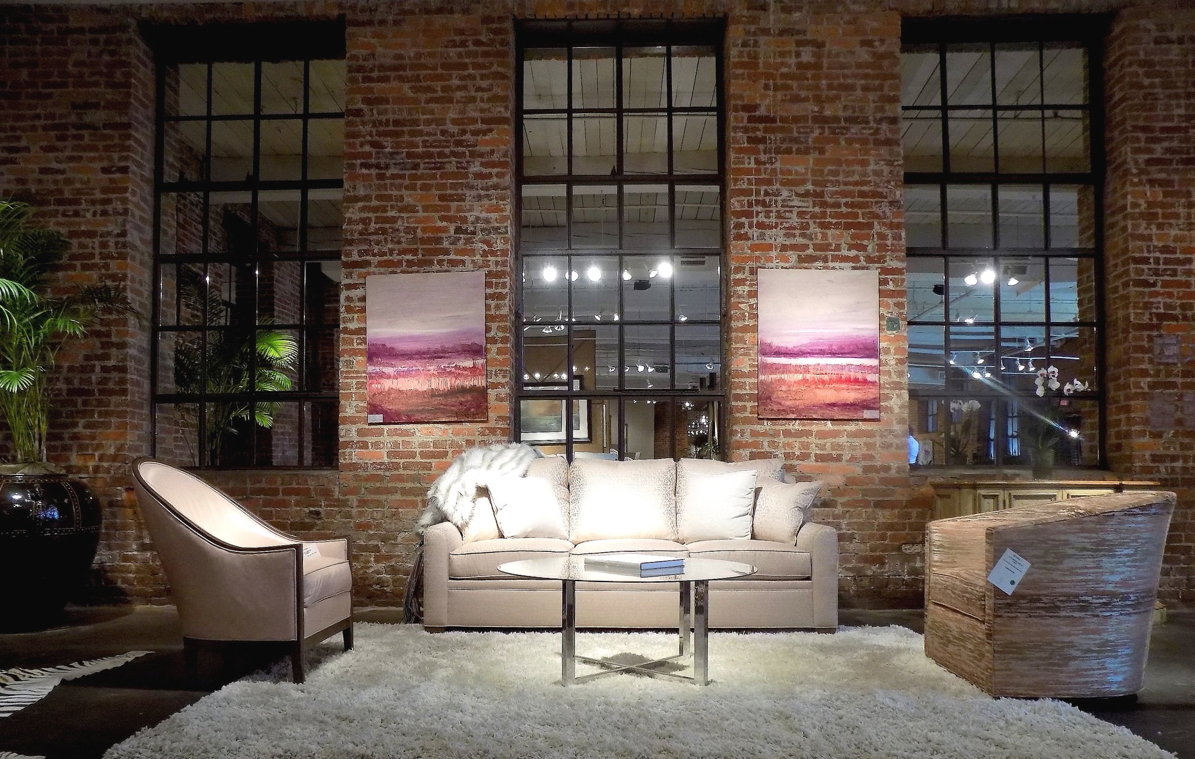L to R, Keren Chair and Choices Grande Sofa shown in Dove; Sadie Swivel.  Photo: The Design Daily