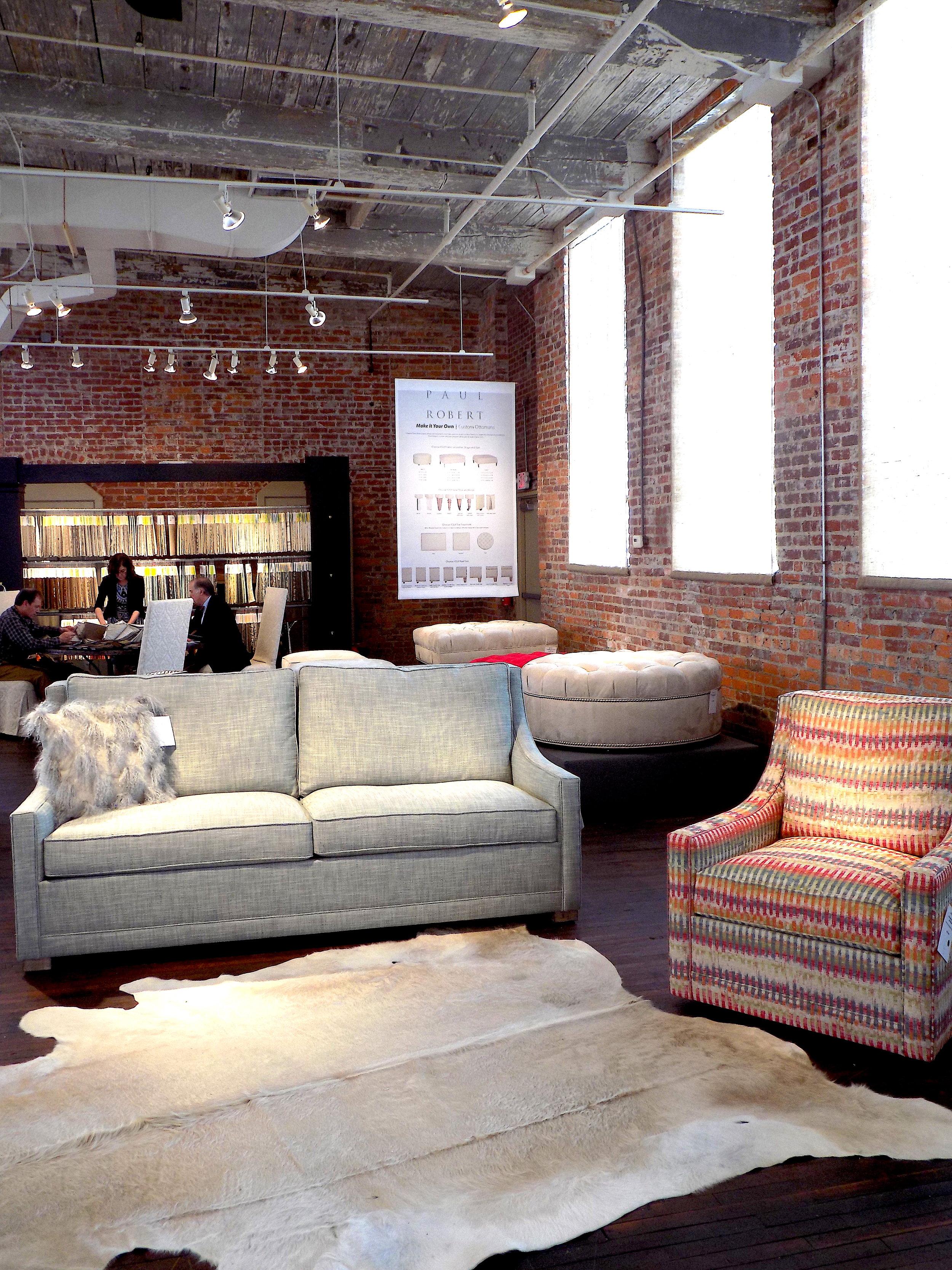 Jefferson Sofa and Swivel   Photo: The Design Daily