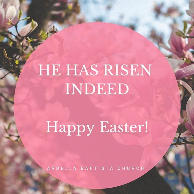 He has risen indeed! We have much to celebrate on this beautiful day the Lord has given us. Happy Easter! #easter #ardellabaptist #celebrate