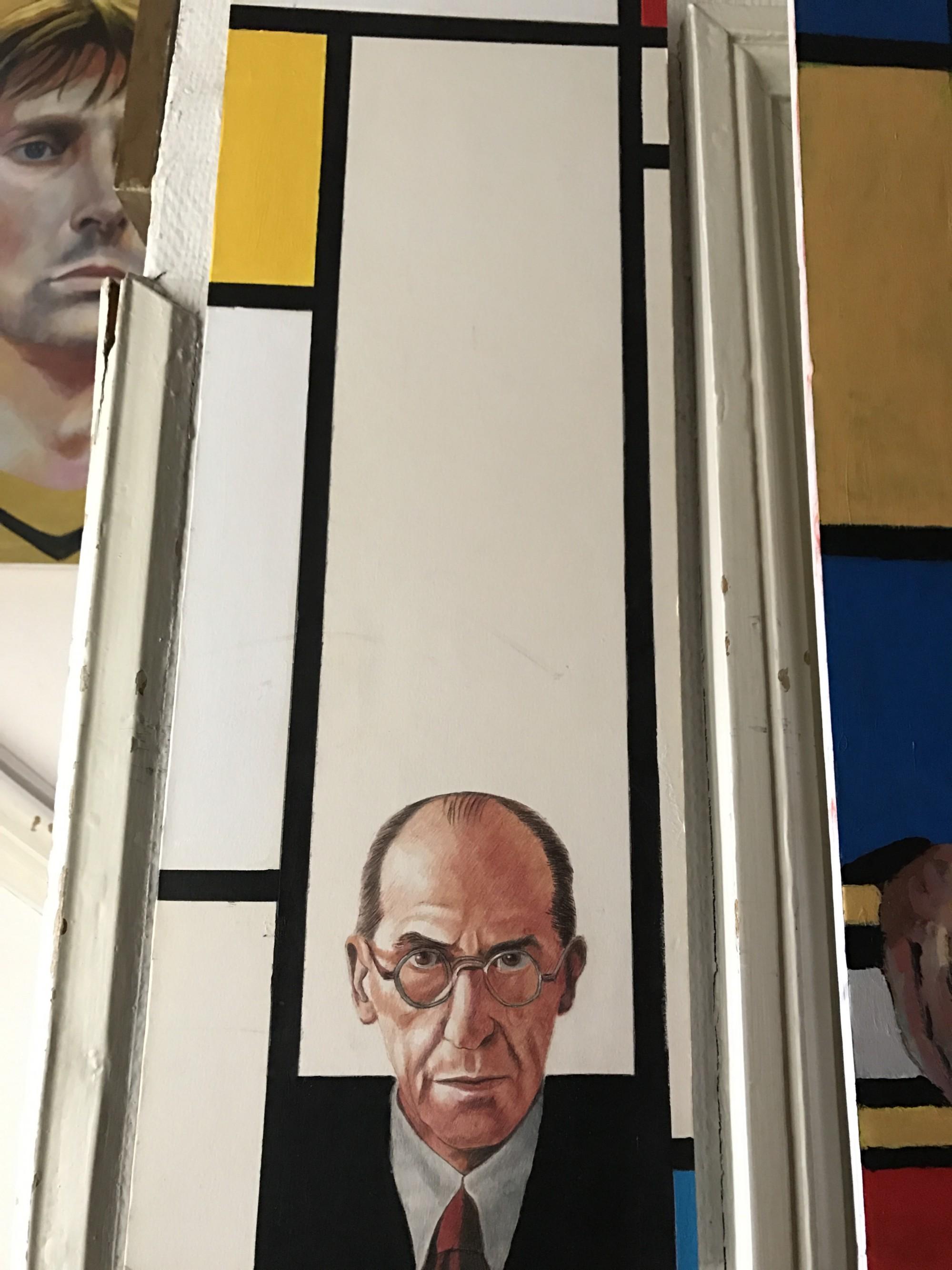 Mondriaan with a pencil