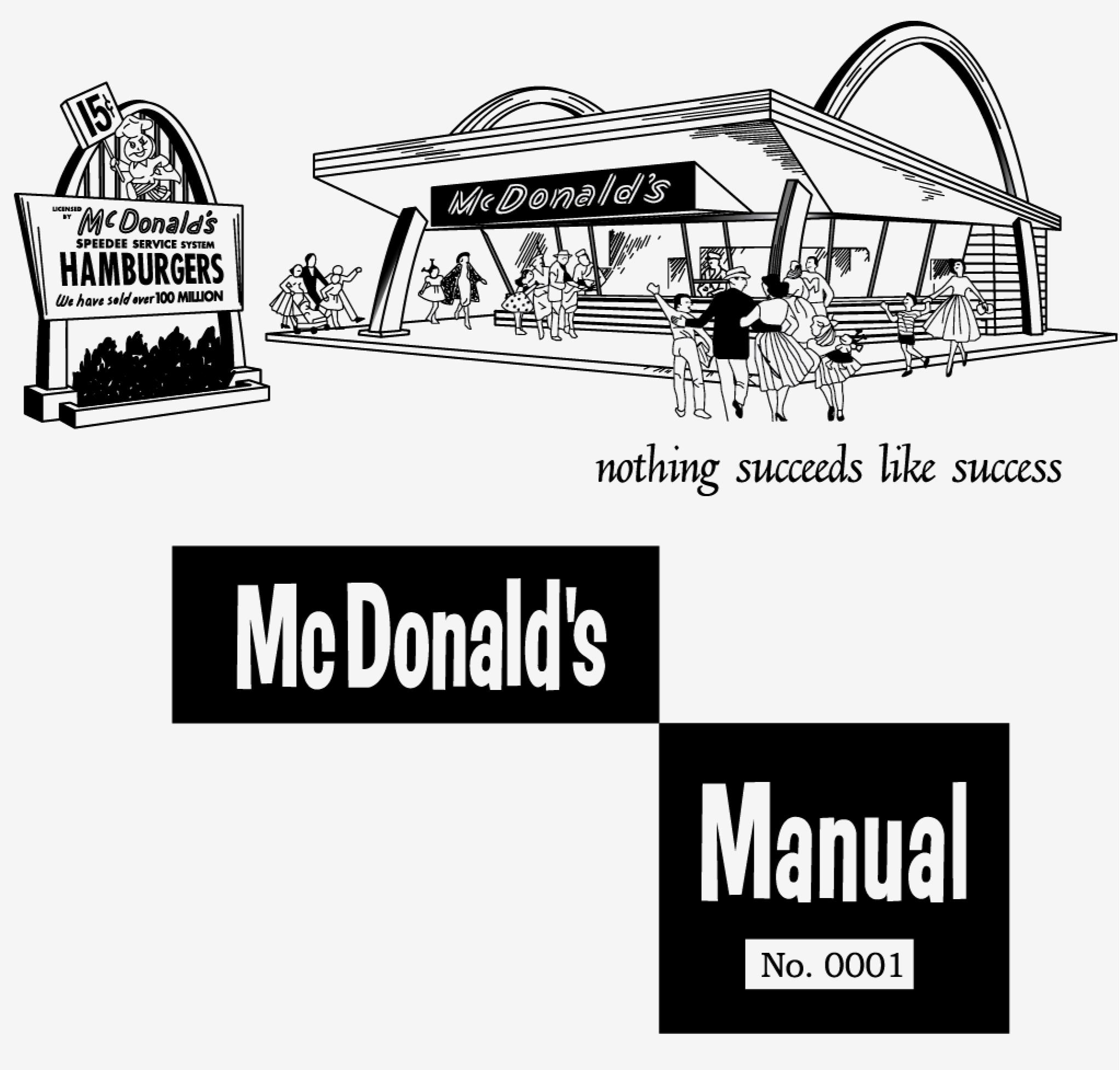 Vintage McDonald's Employee Manual