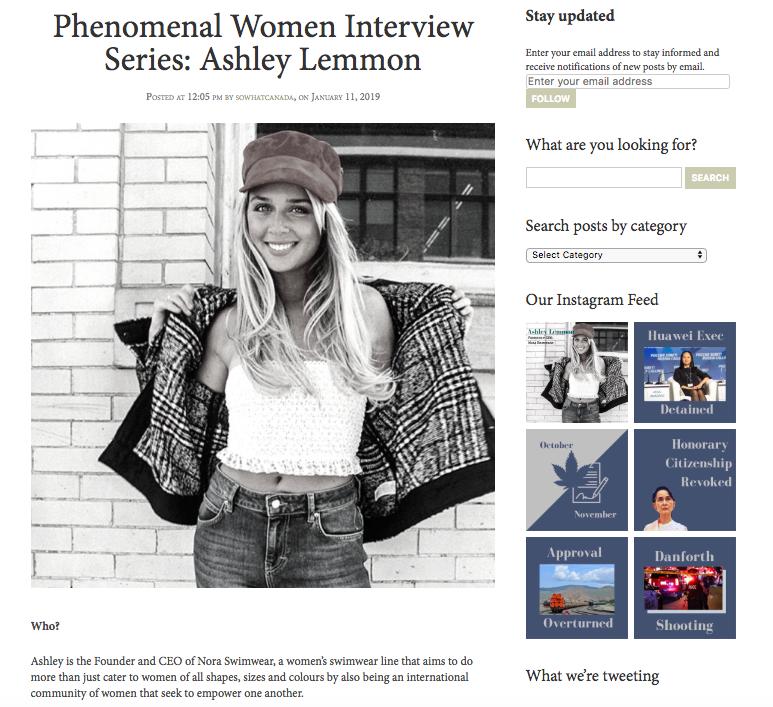 So What Canada - Phenomenal Women Series