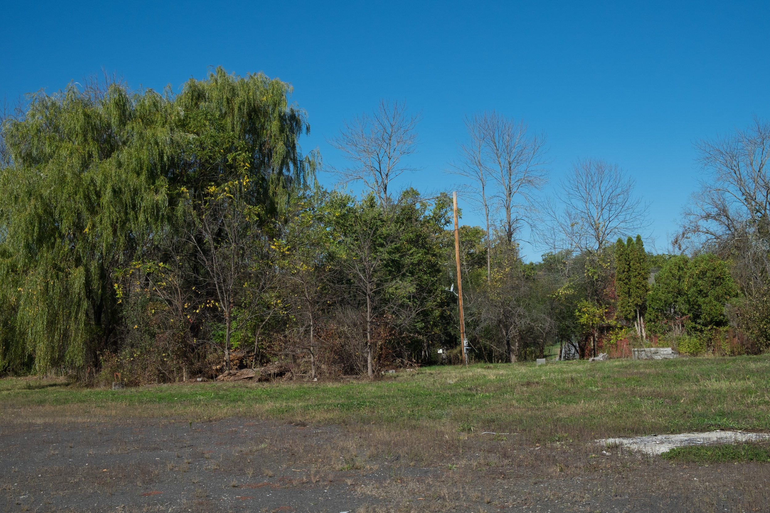 A scene of the new barn site along Route 9W.
