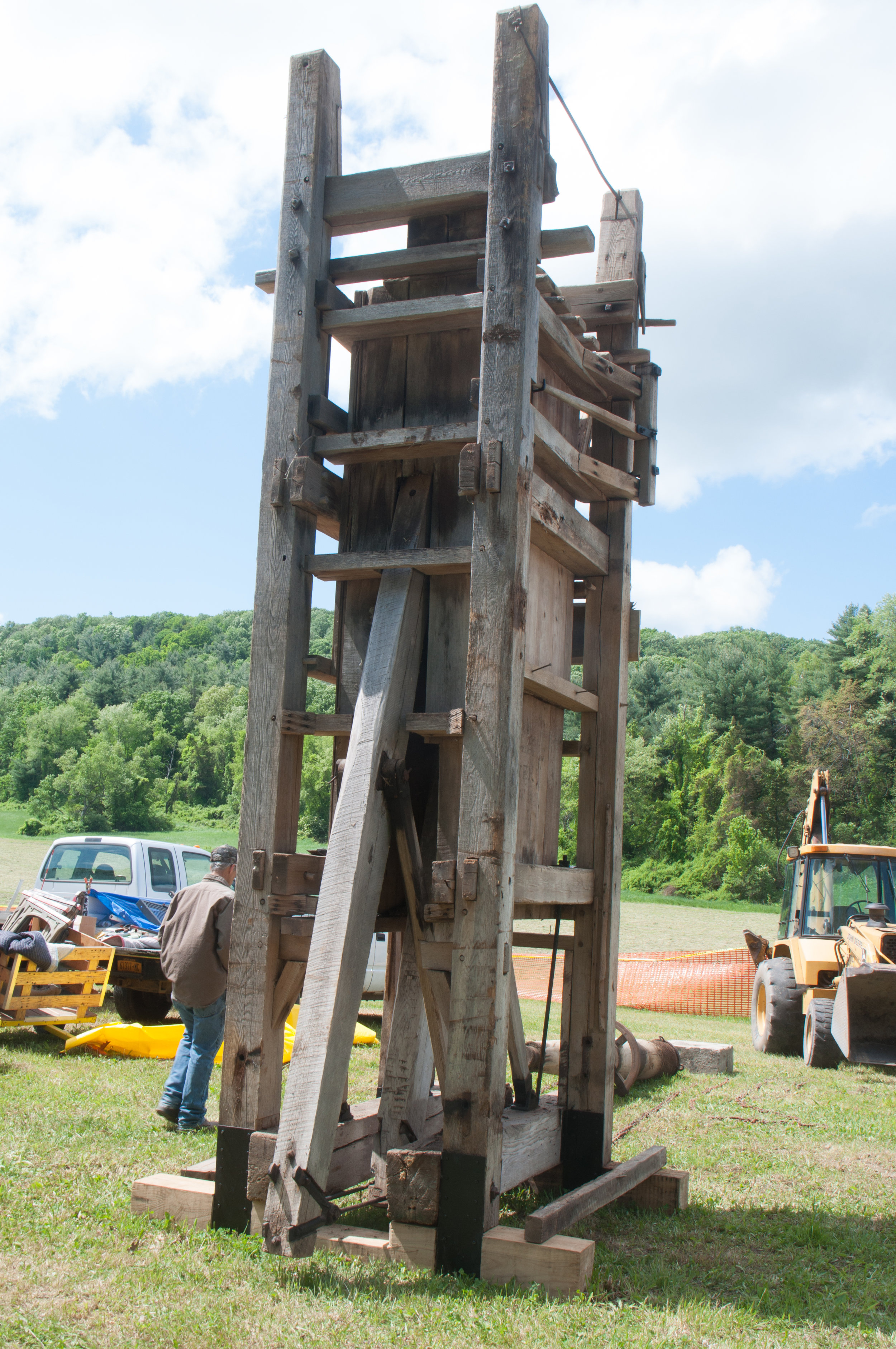 The Greene County Historical Society's Hay Press, a vital farm implement and economic tool of the 19th century Hudson Valley.