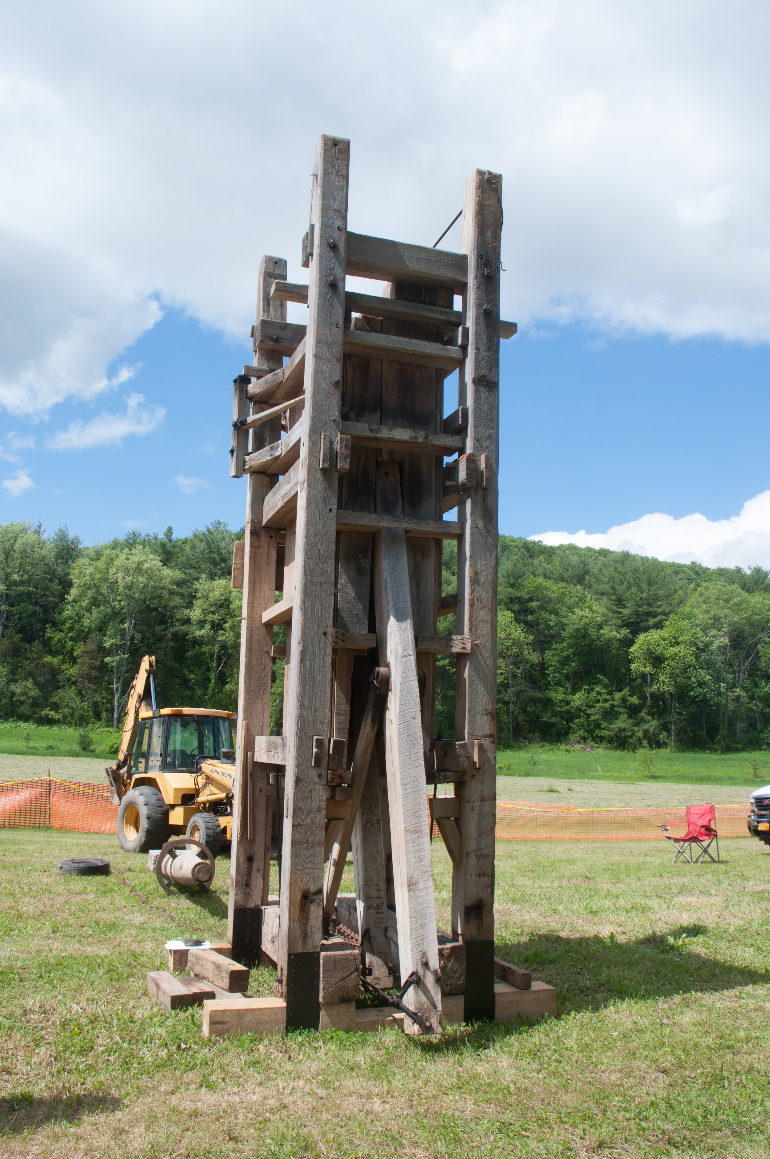 The Greene County Historical Society's 19th Century Hay Press. Hay presses like this created bales suitable for shipping hay down the river in bulk.