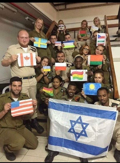 Soldiers from around the world in the Lone Soldier Program