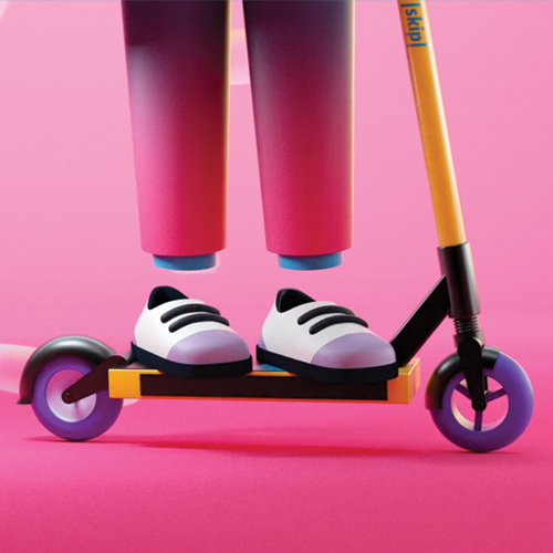 <b>SKIP SCOOTERS</b></br>WORLD'S FIRST