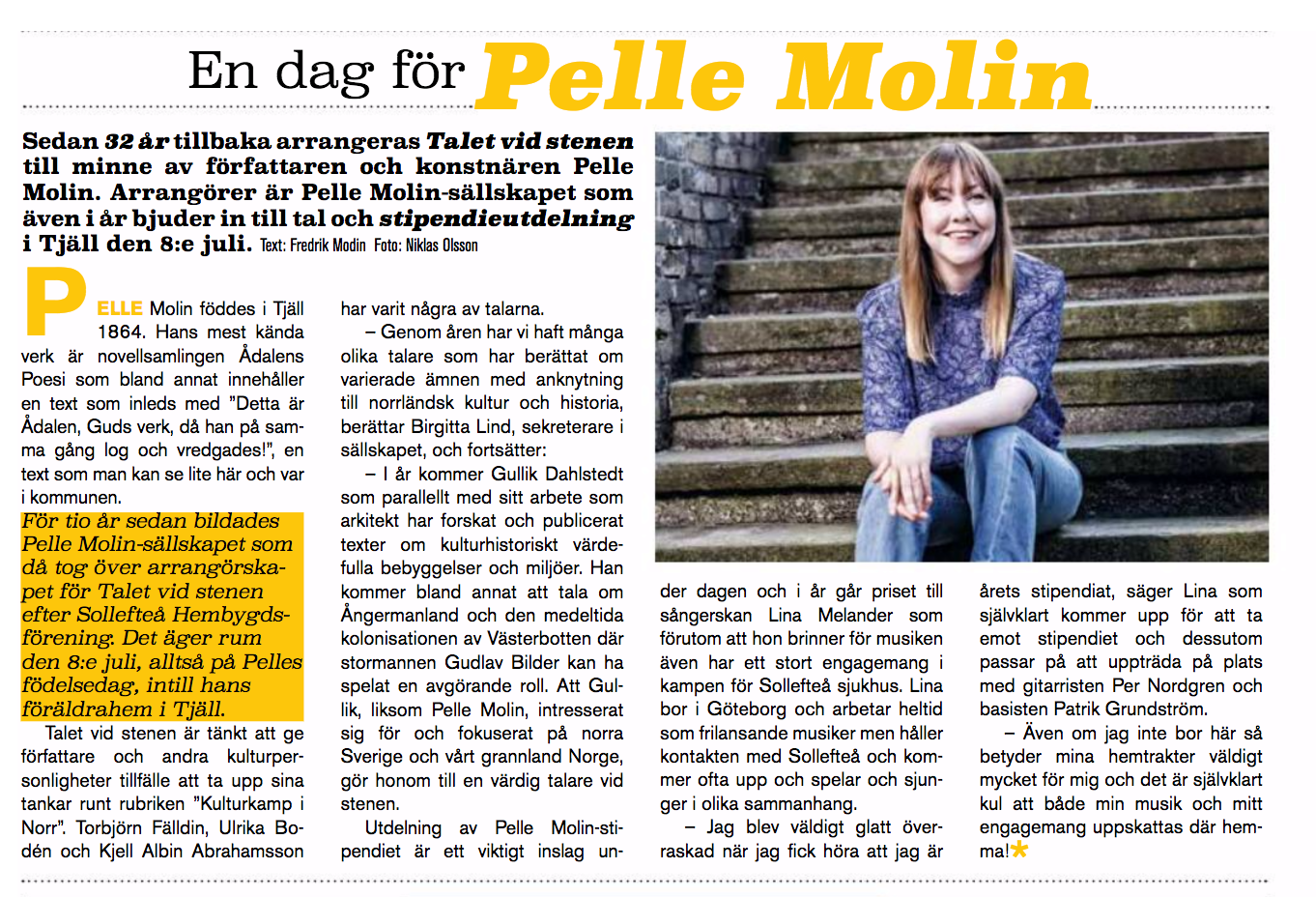 Pelle Molin Stipendiat 2017