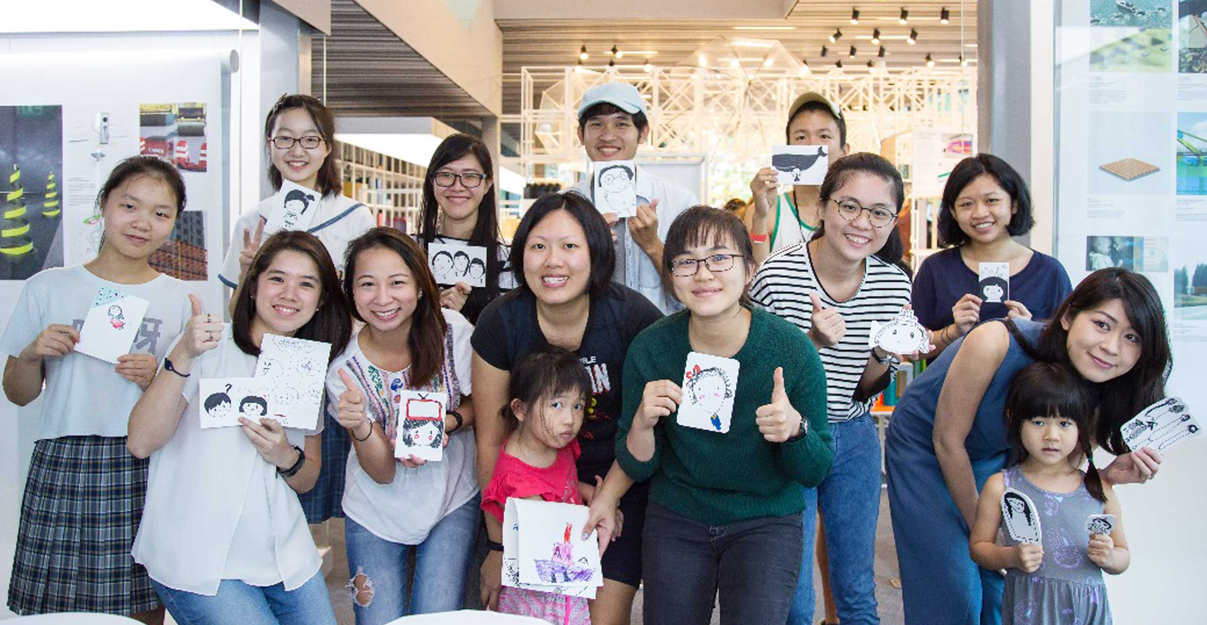 Doodling Greeting Cards workshop by Xinyi Toh, Singapore   This 120 min beginner workshop taught participants how to create their very own bespoke greeting cards with doodling art. The session is simple, low-stress and FUN - once you begin it's difficult to stop!