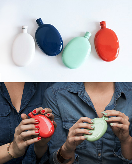 Curator: the diminutive size, colours and finish is a joy to carry. - Odeme creates accessory collections for the modern woman at home, at work, and at play. With this collection, Odeme set out to design an array of flasks that are both fun and functional.