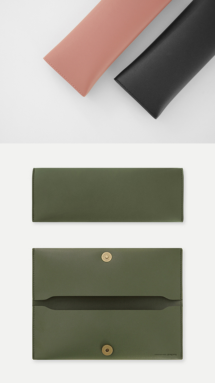 Curator: A simple case that is well made and without any unnecessary parts. - The pencil case is designed to be produced efficiently and with the minimum used of materials.