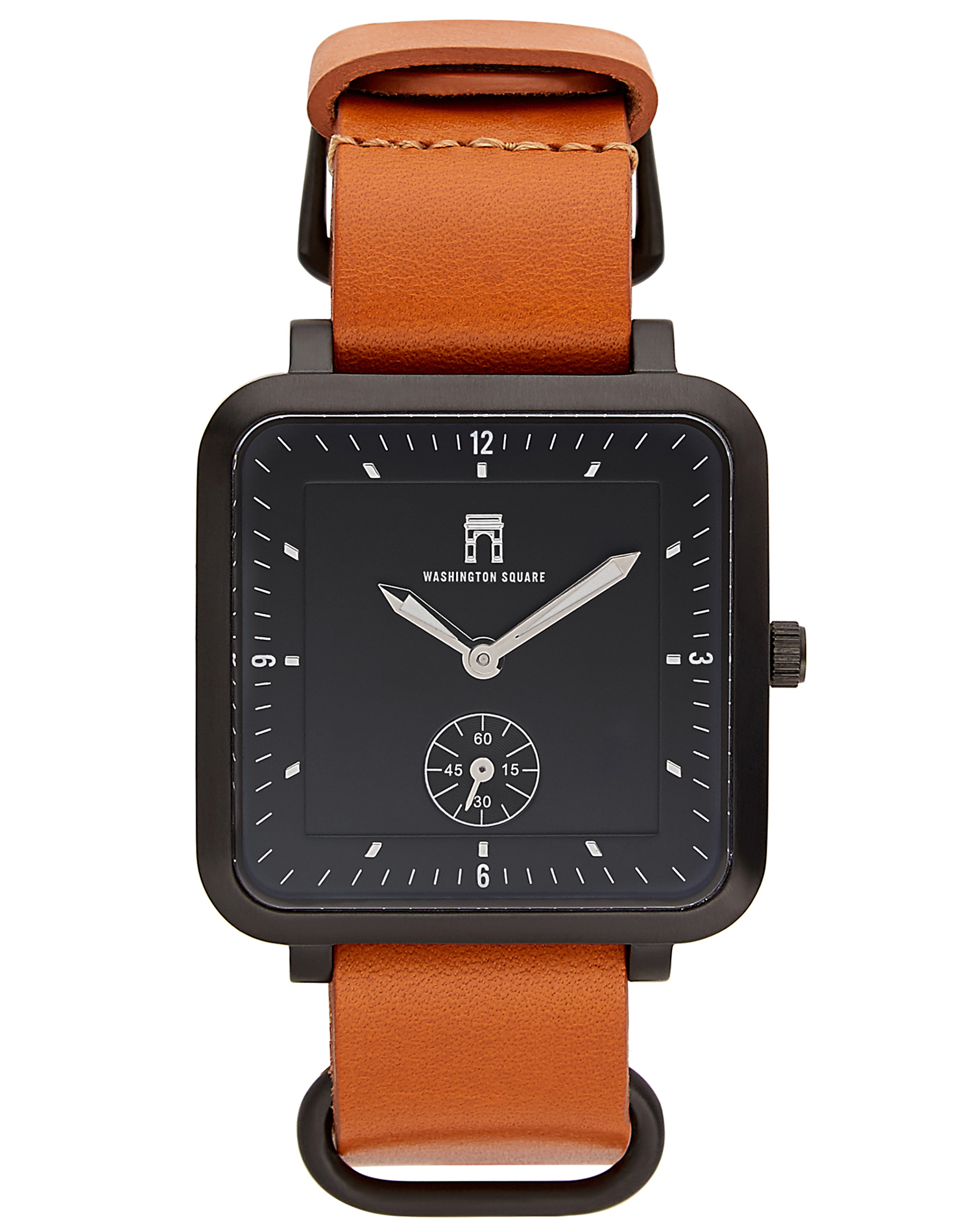 Curator: the beautiful leather strap accentuate the face of the watch. - This collection lets you express your style with confidence. It features a minimal square case available in silver, gunmetal, gold, rose gold, and black. The straps are made with genuine leather, handcrafted in the USA.