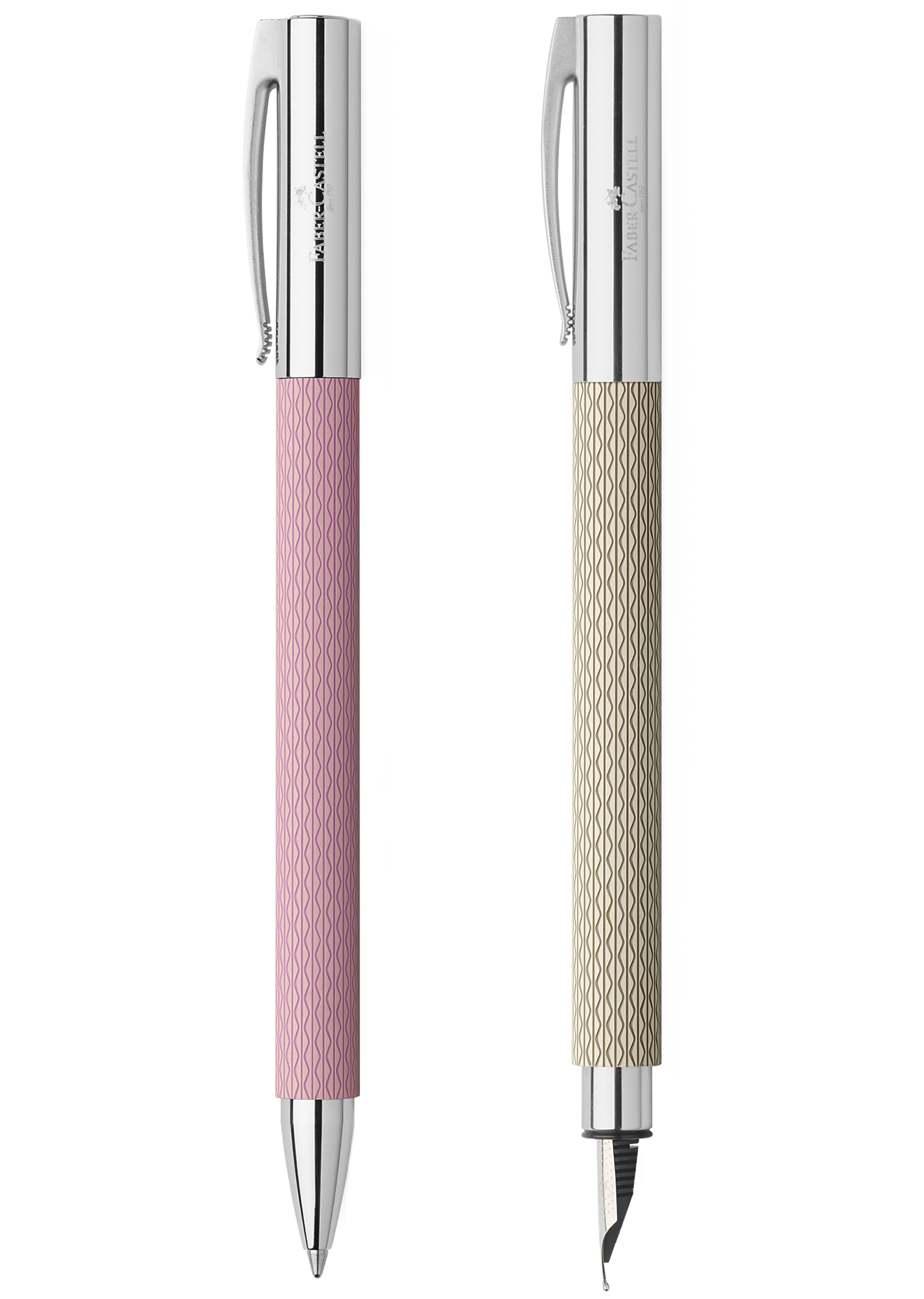 """Curator: the colours and the patterns smooth the usual Faber Castell's angular design, making it particularly feminine. - The ambition"""" range of Faber Castell is all about clarity, a feeling for materials and fresh vibrant colors. They are available in precious resin, coconut wood, pearwood and stainless steel."""