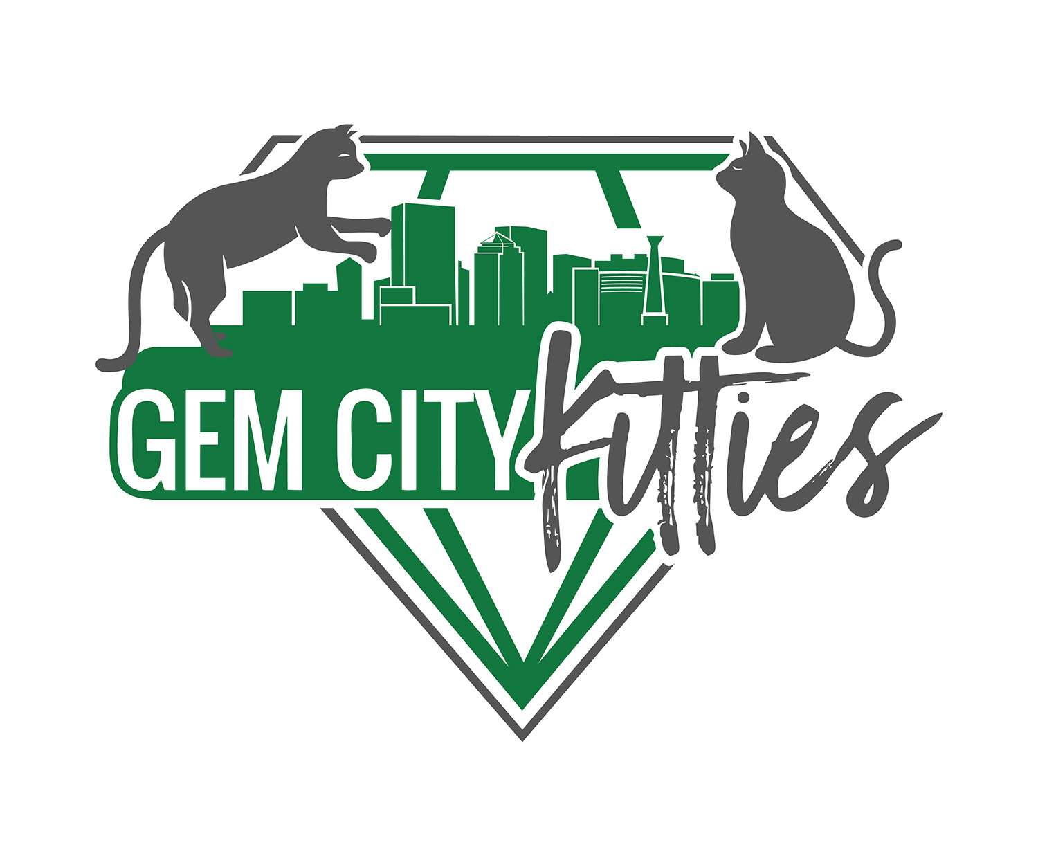 Our rescue partner - Gem City Kitties is a 501(c)(3) non-profit created to partner with Dayton's Cat Café, Gem City Catfé. Together, both organizations work to improve the lives of cats in Dayton. We collaborate with local rescues and shelters to help find homes for cats in need, as well as educate about spay and neuter and care for community cats.