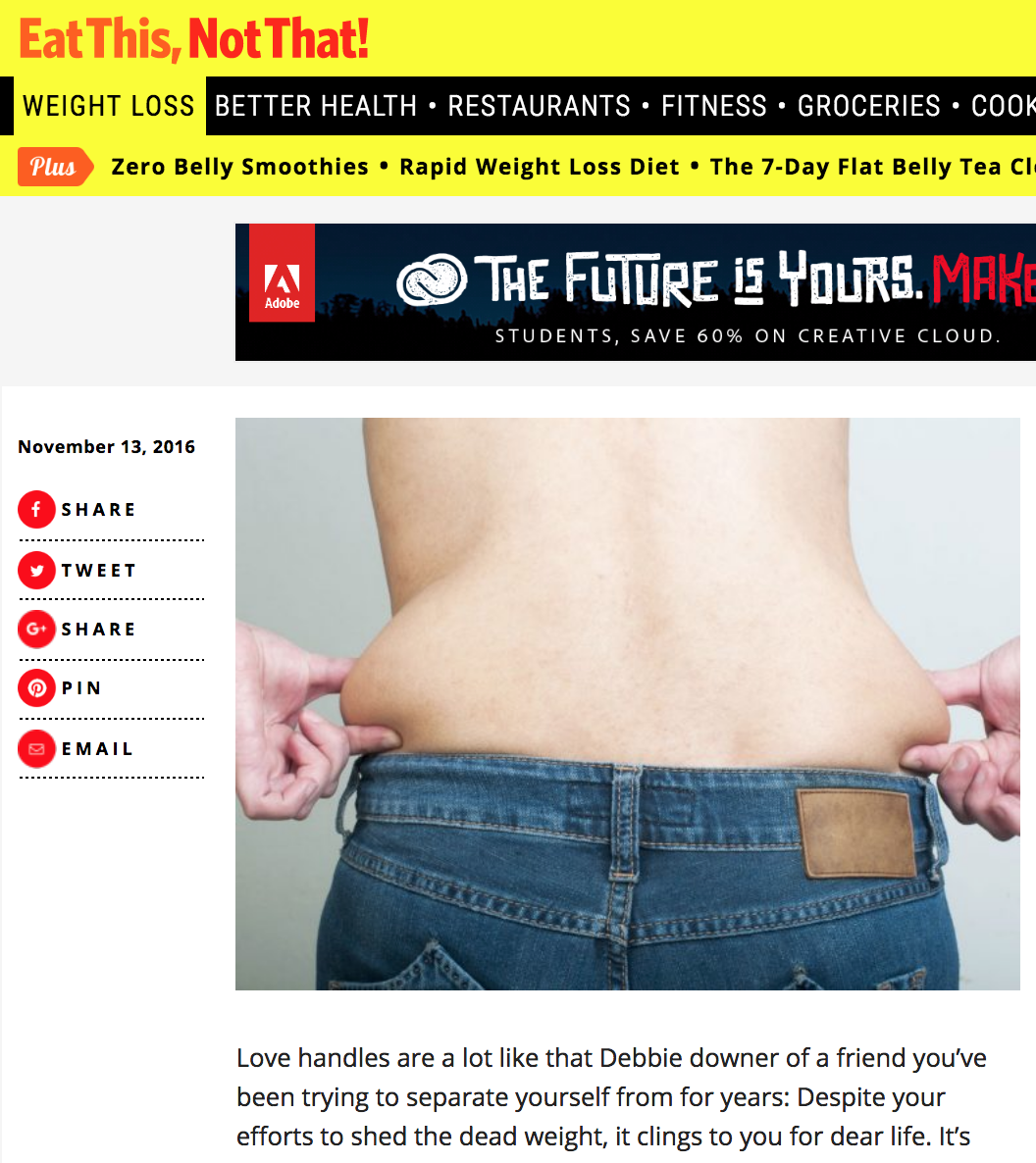 16 Reasons You Can't Get Rid of Your Love Handles - via EatThis.com