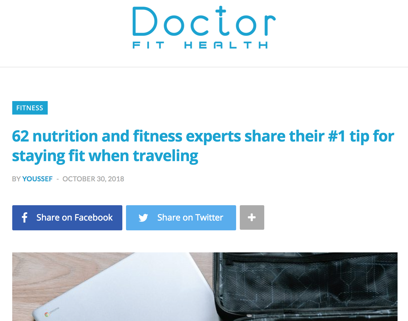 Tips for Staying Fit While Traveling - via DoctorFitHealth.com