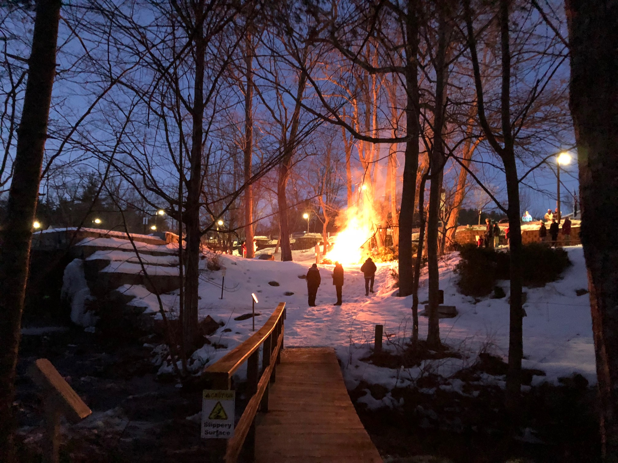 3rd Annual Light the Night Bonfire, Chocorua River Dam Park 1/28/18