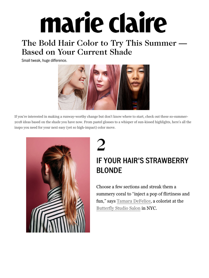 BOLD HAIR COLOR TO TRY THIS SUMMER