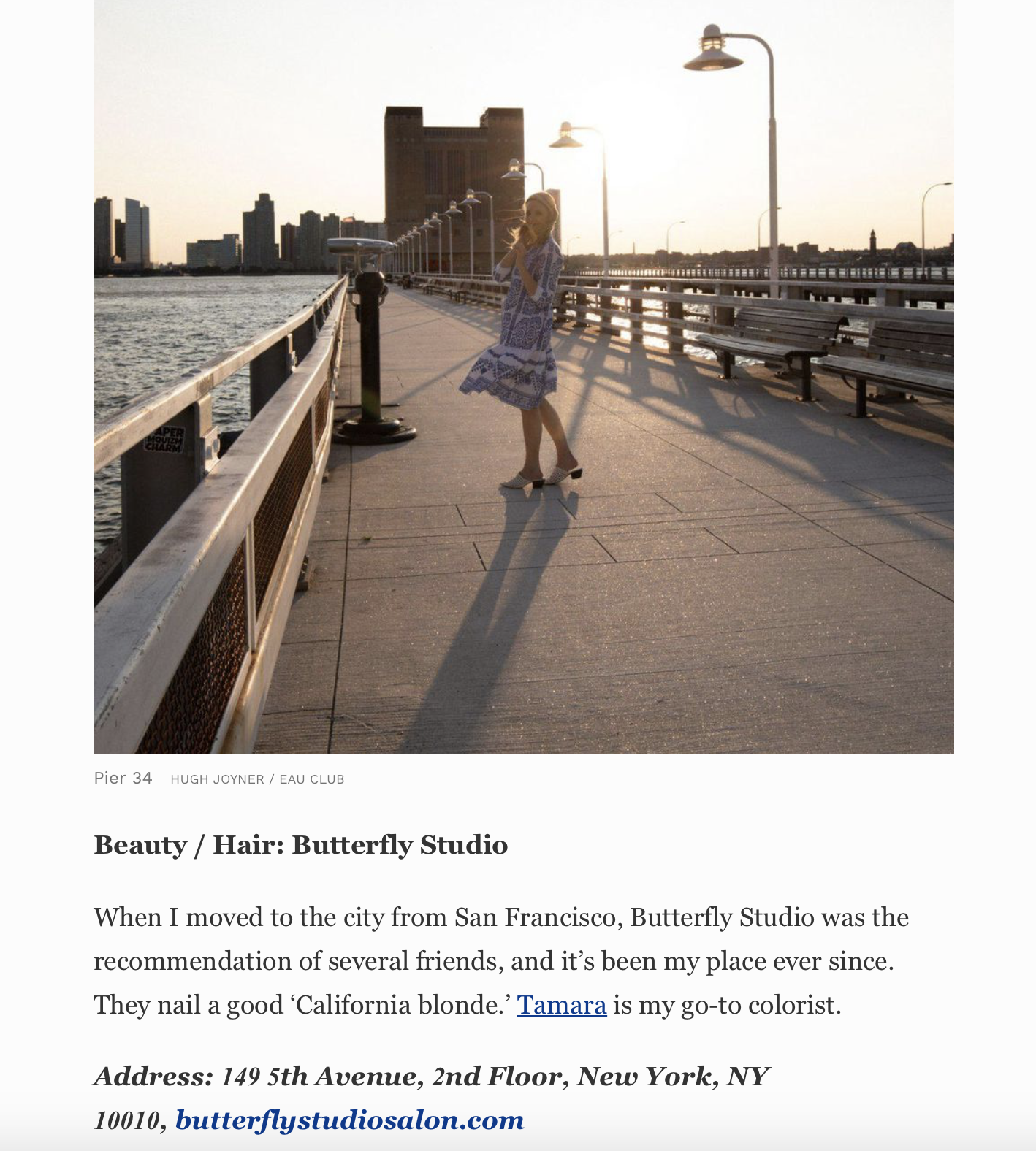 FORBES.COM   Emily Bib's Little Black Book of New York Mentions Butterfly Studio Salon as the one stop shop for everything beauty.