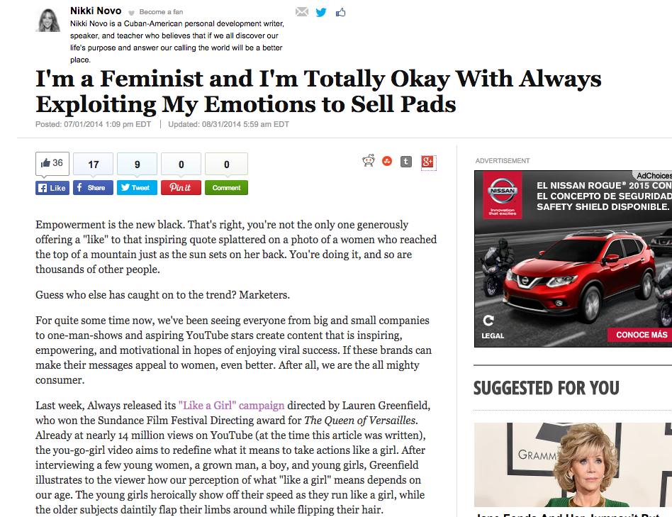 Huffington Post: Click on the image to read the full article.