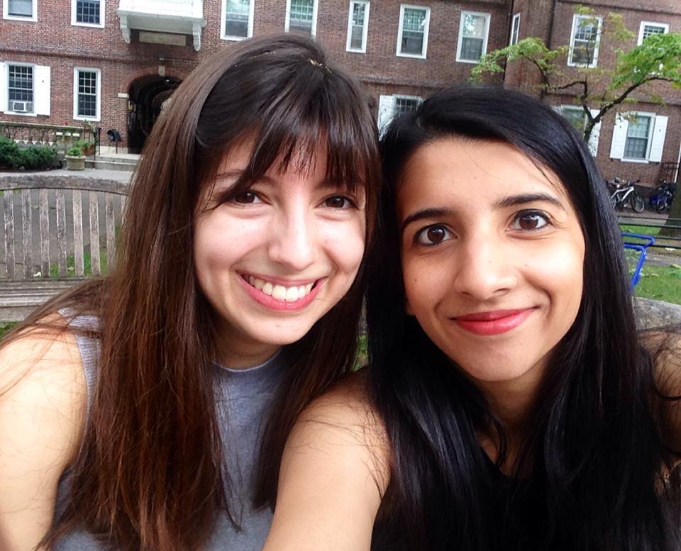 Risham & Phoebe at Kirkland house, where we're roommates!