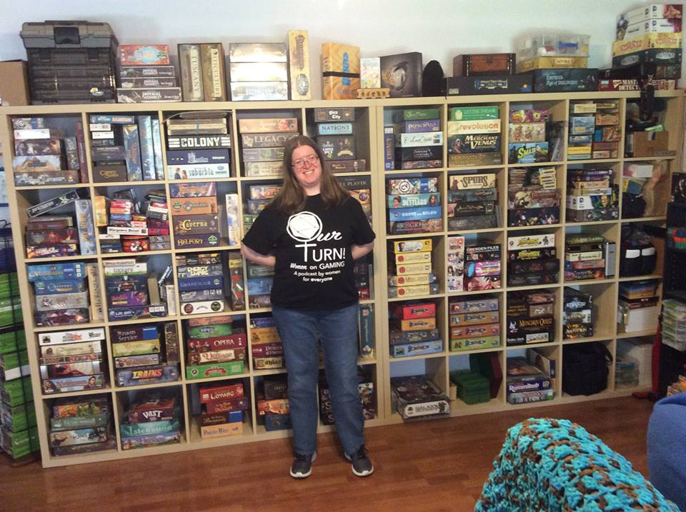 Sarah Reed is a board gamer, board game designer, podcaster and LEGO fan.