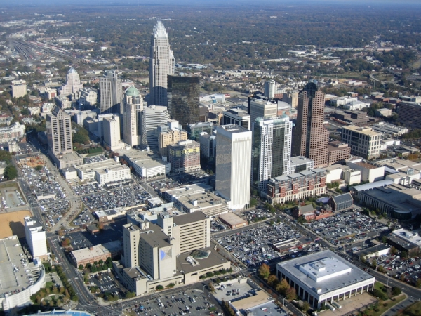 Downtown Charlotte, NC. Picture via  Pixabay .