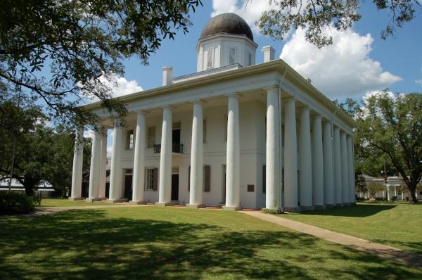 East Feliciana Parish Courthouse. Photo by Galen Parks Smith via  Wikimedia Commons .