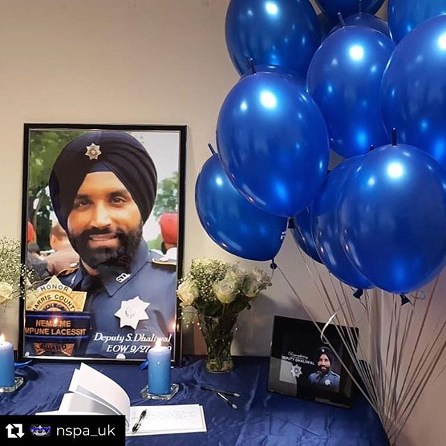 Today we observed the community unite. Coming together in solidarity for our fallen brother Deputy Sheriff Sandeep Singh Dhaliwal. Today we heard speeches from a number of dignitaries and key speakers, giving us food for thought for our future and the future generations to come . 🙏🏾 A truly blessed day 🙏🏾 We will continue to serve with pride and passion, just as we have seen with your enthusiasm to help and serve others.  Until we meet again Sandeep 💙  #deputysheriffsandeepsinghdhaliwal #nspauk #police #lawenforcement #thinblueline #family #waheguru #sikh #officer #endofwatch #standdown  Thanks: Special @aceweddings for your support with the beautiful backdrop behind guru Ji in the Darbar Sahib 🙏🏾 Repost @nspa_uk