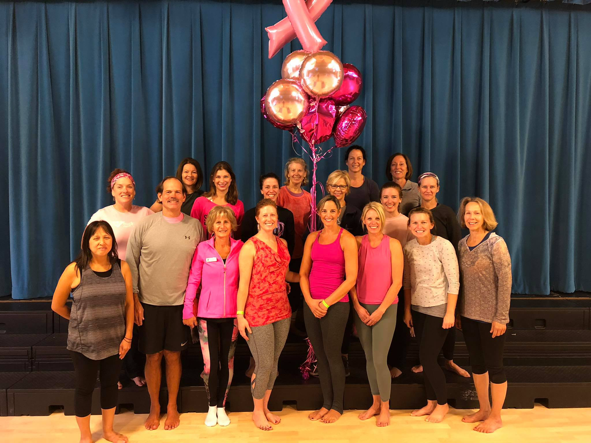 Annual Breast Cancer Yoga Class for Charity-Emilson YMCA (October 2018)