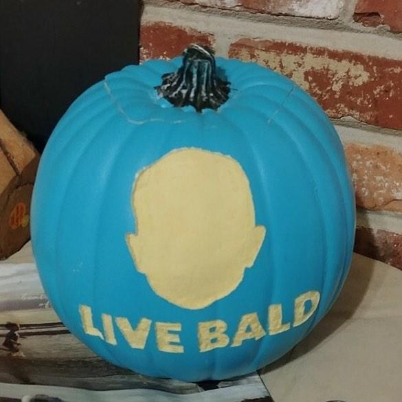 Happy Halloween from Live Bald Huntsville!  #livebaldhsv #preventingchildhoodcancer #stbaldricks