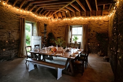 space transformation. Old barn becomes beautiful event venue