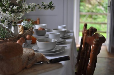 Breakfast scene created for holiday cottage photo shoot
