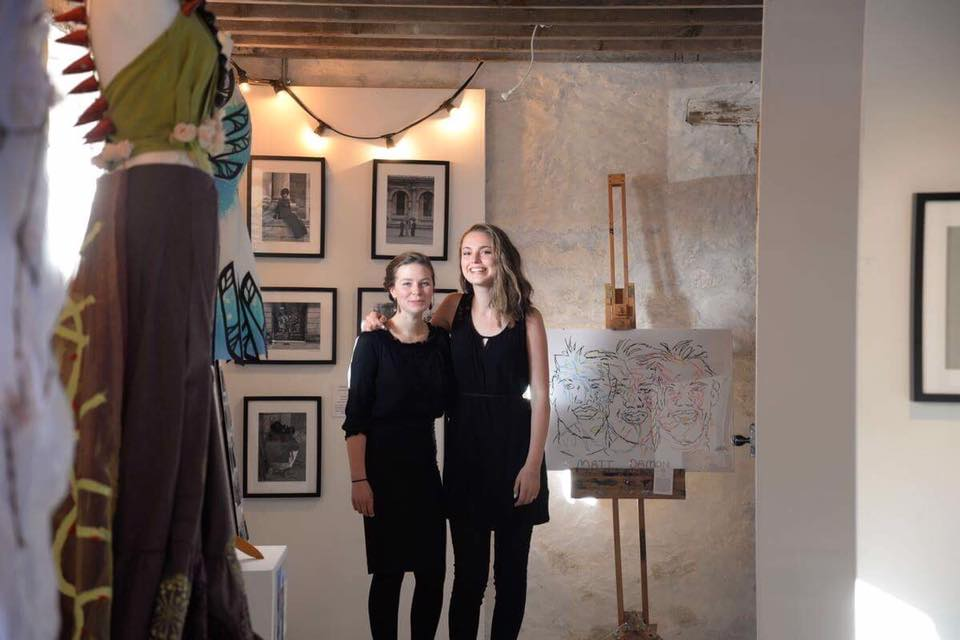 Exhibiion curators Beth Qualter Buncall and Holly Smith