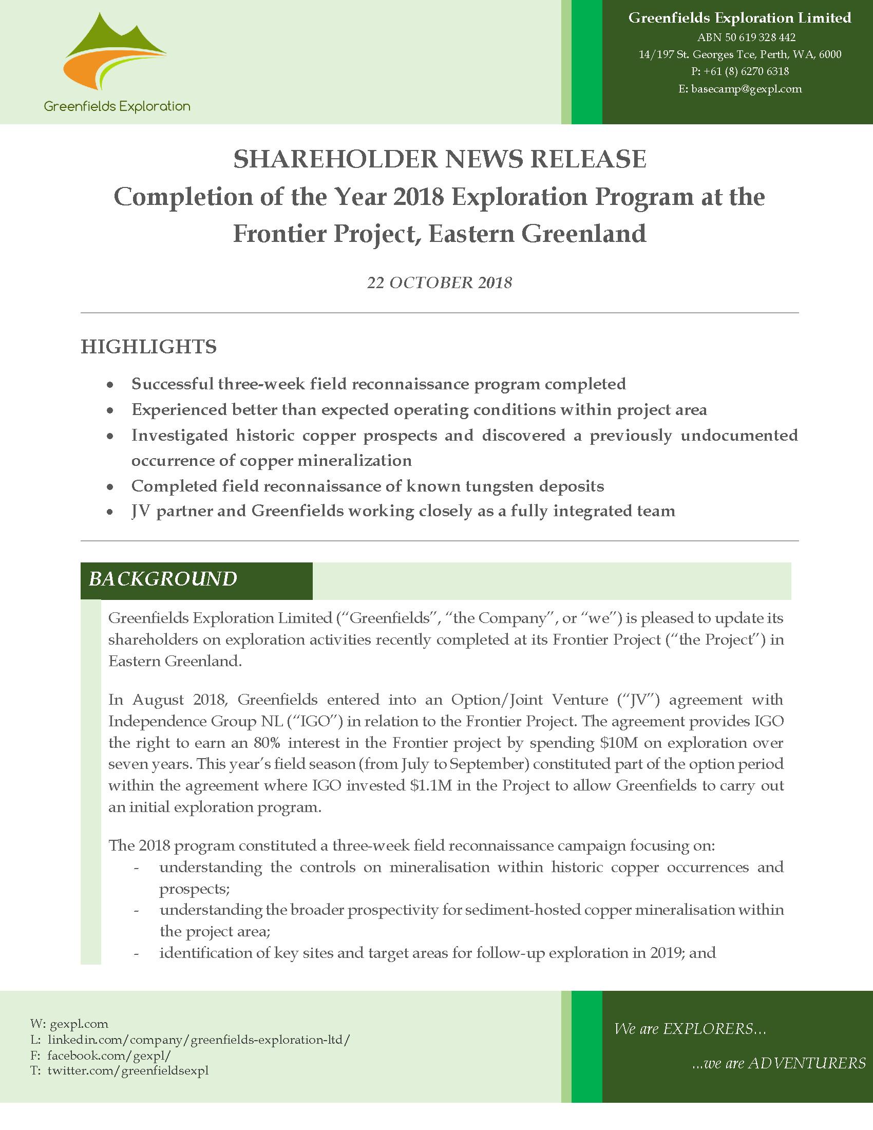 20181022_Greenfields_Shareholder news_2018 Expln Program_Page_01.png