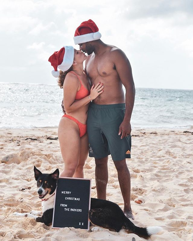 Merry Beachin' Christmas! 🌴🎅🏾🤶🏼 . . . Happy Holidays from our family to yours! ❤️💚 . . . Last year we were wrapped up in minus degree weather, so this year we decided to spend Christmas on the beach at home. It couldn't get any better. 😀 . . . #merrychristmas #happyholidays #caymanislands #beaches #southsound #islandliving #sandychristmases #gyalabroad #ilivewhereyouvacation